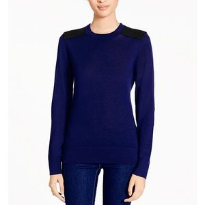 kate spade Sweaters - NWT, Kate Spade Patch Leather Navy & Black Top!